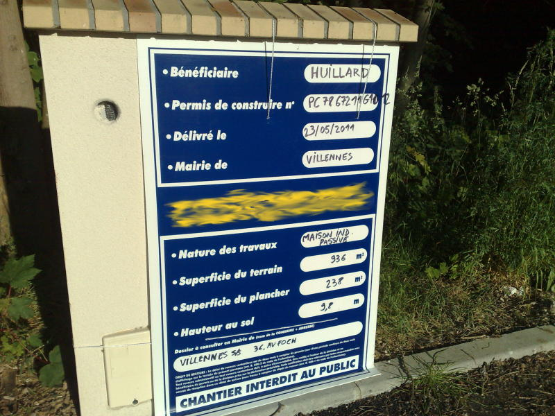 Planning maison passive villennes sur seine for Panneau affichage permis de construire gratuit